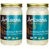 Artisana Organics - Coconut Butter, Organic, Certified R.A.W. Spread, No Added Sugar, Non-GMO and Vegan (2-Pack, 14 oz)