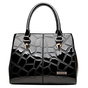 d18f6c37e70e JACVAAP JVPS65-B 2018 New Handbag Business Bag Black PU Leather Fashionable  New Style Ms