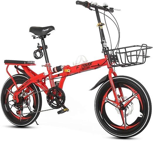 Bicicleta plegable de 20 pulgadas para viajes al aire libre ...