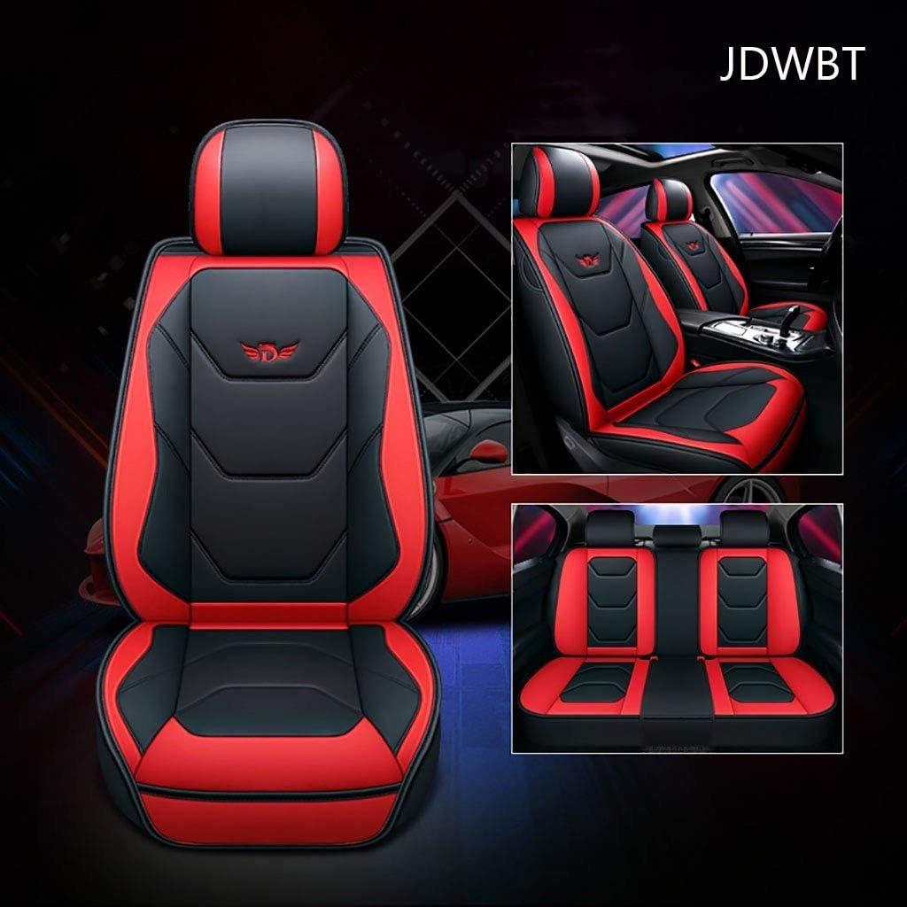 Color : 1Beige AutoSitzbez/üge Leder Vorne Hinten 5er-Set Universal Leder Seasons Pad Sitzschoner