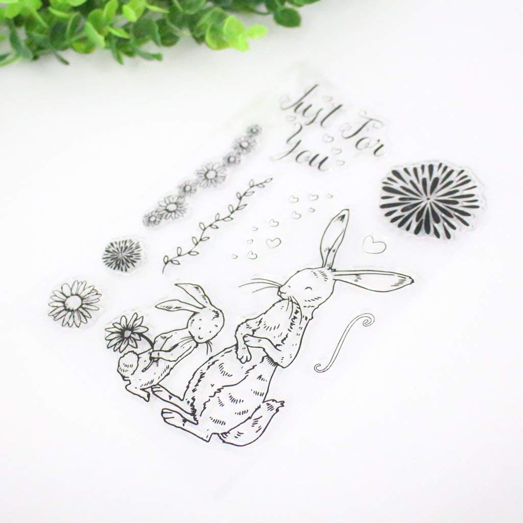 Cute Baby Bduco Clear Stamps for Card Making Transparent Silicone Seal Stamp for DIY Scrapbooking Craft Card Photo Album Decor