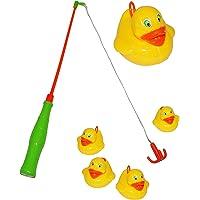 großes Angelspiel mit 4 Enten - Angel - angeln für Kinder - mit Haken - Badewanne Spiel Fischeangeln / Kinderspiel Spiel - Wasserspielzeug Wasser Entenangeln / Entchen