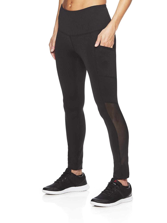fcd8f3db5677 Amazon.com  Reebok Women s High Rise Leggings Performance Compression Pants   Clothing
