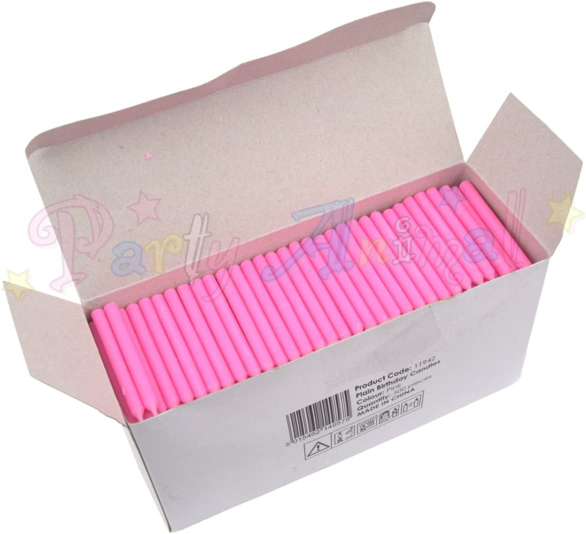 Cake decoration accessories Bulk Pack of Plain Birthday Candles or Holders Packs of 500 Mixed Candles