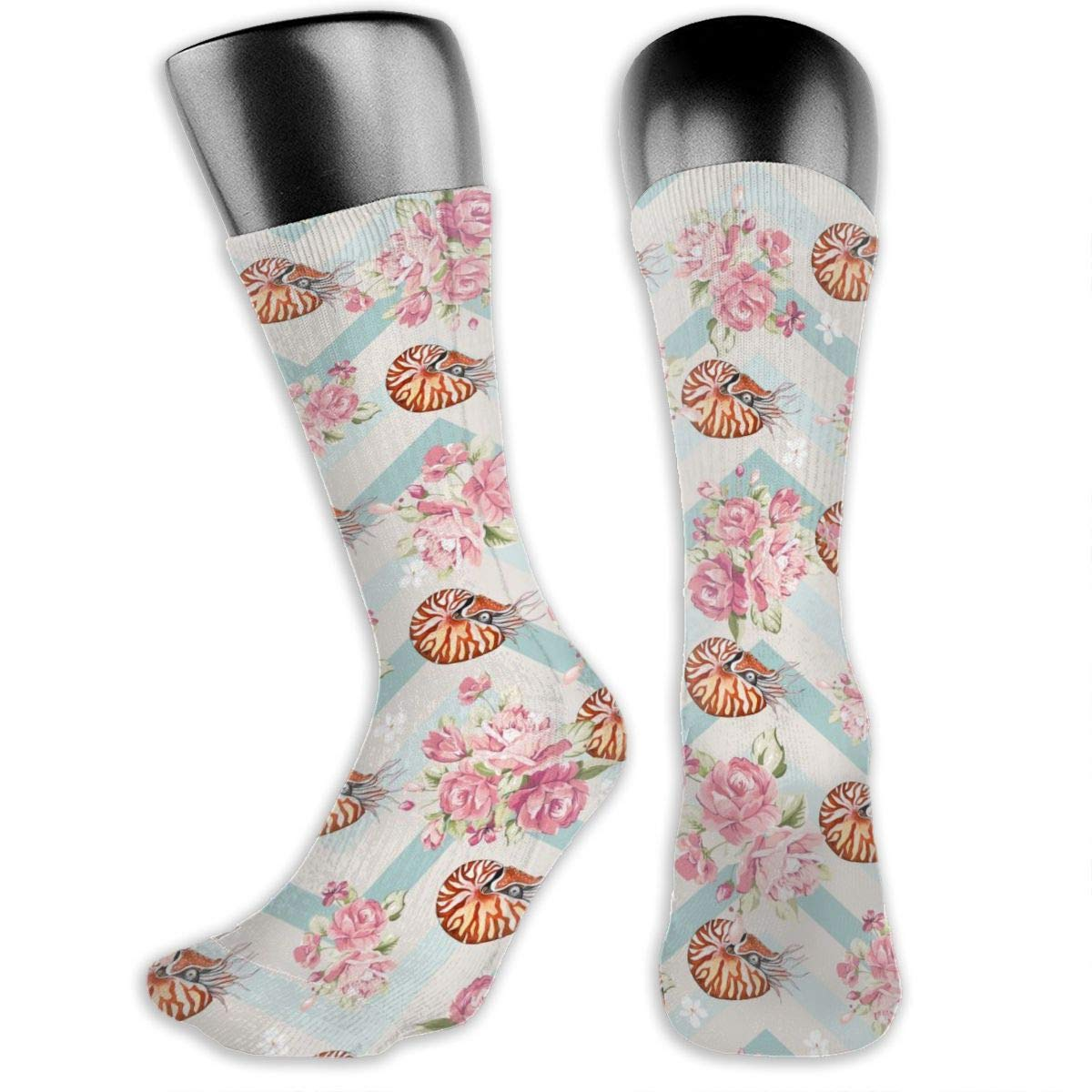 Personalized Nautilus Watercolour Dress Socks For Women Men