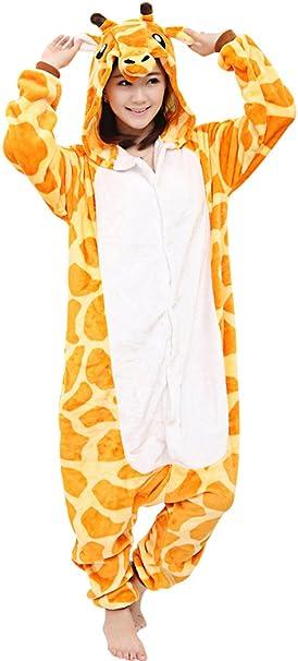 dressfan Unisex Adulto Animal Pijamas Jirafa Cosplay Disfraz ...