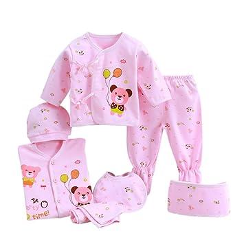 493126043c3ca Nouveau-né bébé 7 pièces Layette unisexe ensemble de vêtements Essentials  Bundle nourrissons cadeau (