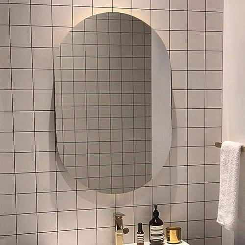 U HOME Oval Bathroom Wall Mirror 36 x 24 inch, 6 MM Frameless Polished Vanity Mirror for Bathroom, Bedroom, Make up