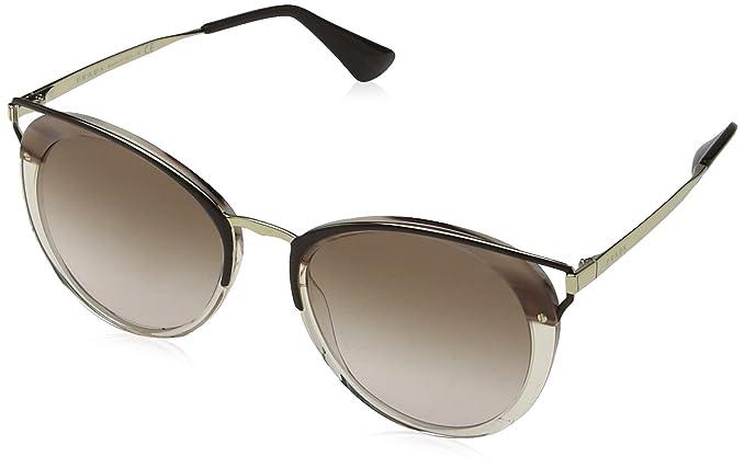 Prada Damen Sonnenbrille 0PR66TS LMN0A6, Braun (Striped Brown/Brown), 54