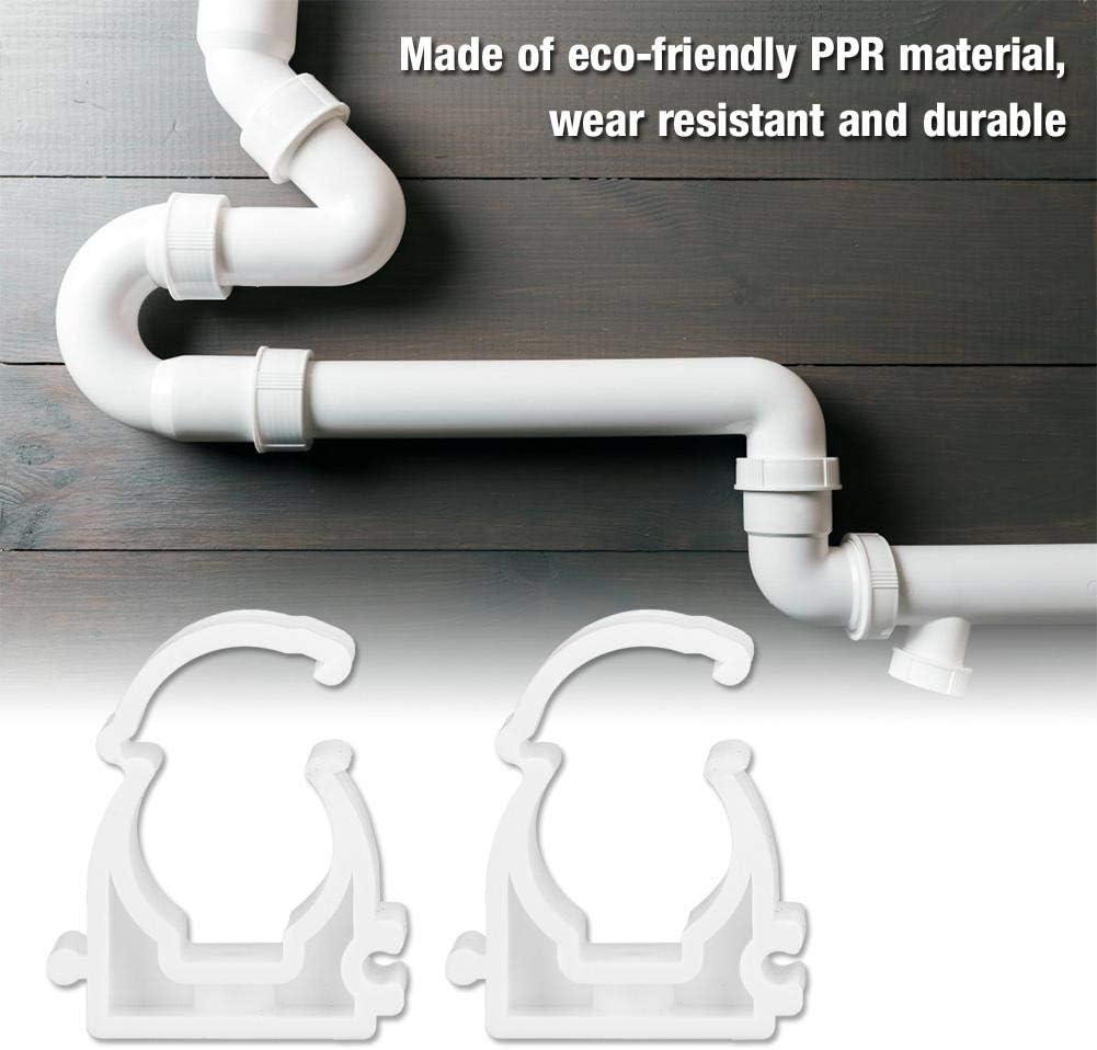 20pcs 16//20//25 32mm PPR Abrazadera de tubo de gas de agua Tubo Sujetar Hebilla Clip de tubo de tubo con tornillos Abrazadera de tubo 16mm