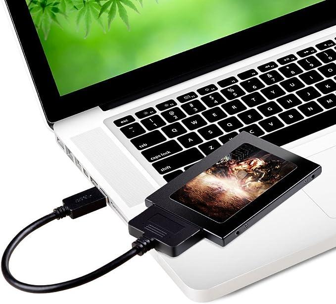 V.TOP Adaptador de USB 3.0 a SATA para Discos Duros SSD de 2.5 ...