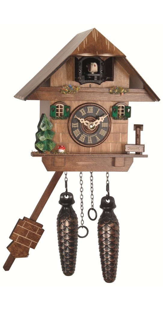 Engstler Quartz Cuckoo Clock Black forest house EN 417 Q