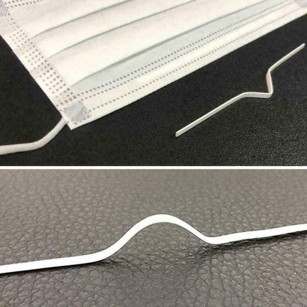 Exceart 200pcs Nose Bridge Strips Meta Nose Bridge Wire Bracket Nose Bridge Clip for Face Cover Making DIY Handmade Crafting