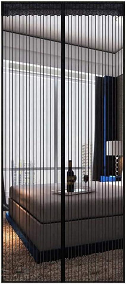 GUOGAI Magnet Vorhang 170x210cm Schwarz 67x83inch Insektenschutz Fliegenvorhang Moskitonetz Ohne Bohren f/ür Wohnzimmer T/ür Kellert/ür Balkont/ür
