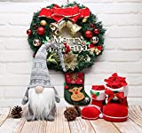 19 Inches Handmade Christmas Gnome Decoration Holiday Gifts Swedish Figurines (Grey)