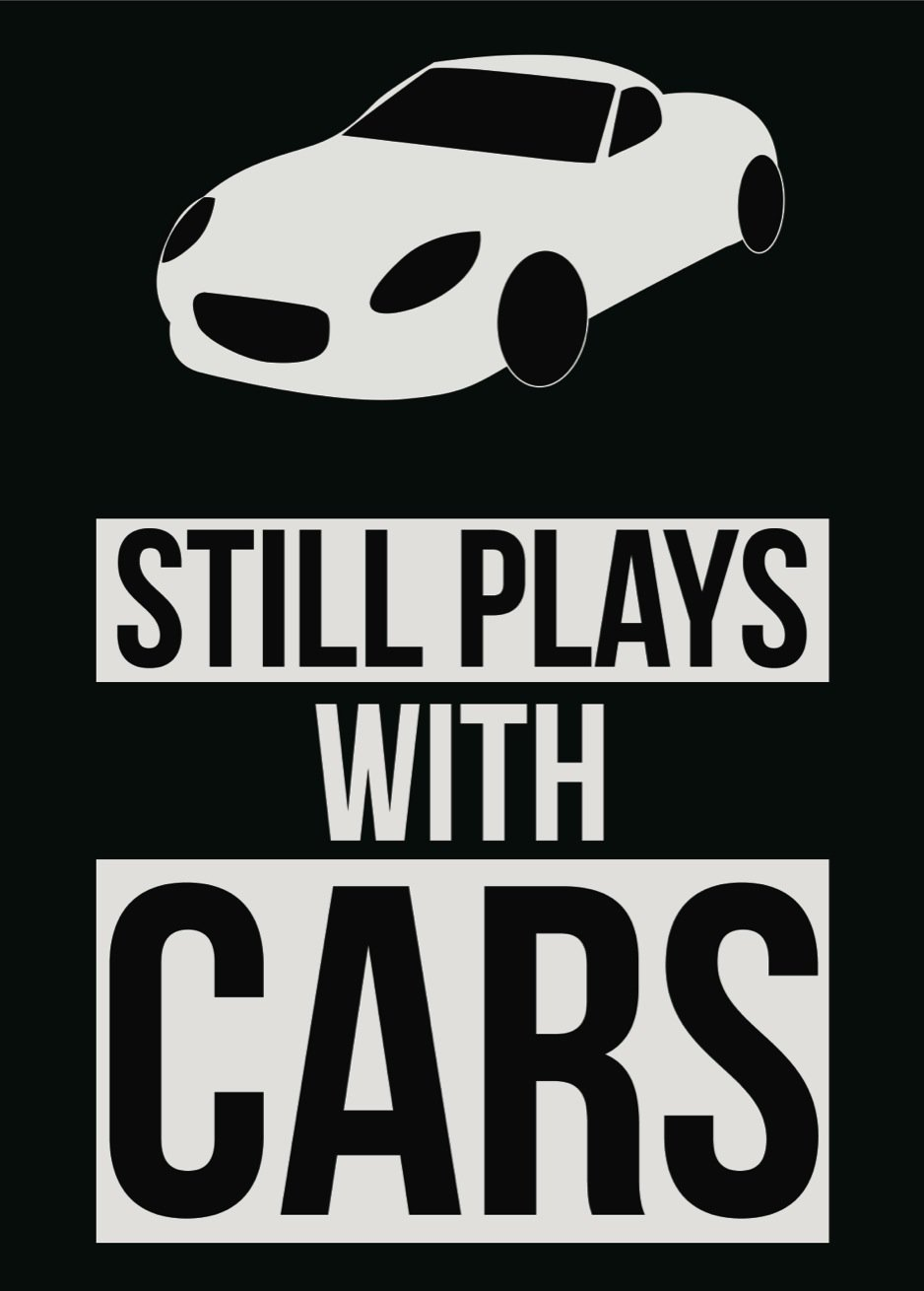 Still Plays With Cars Mechanic Poster Car Picture Tools Wall Decal Sign Large - Aluminum Metal - 6 Pack, 12x18