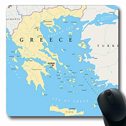 Amazon.com : Ahawoso Mousepads for Computers World Aegean ... on world map of china, world map with greece highlighted, world map of serbia, world map of crusades, world map of new zealand, world map greece italy, world map of turkey, world map of philippines, draco from greece, world map of england, world map of israel, world map of atlantis, world map of italy, world map of united kingdom, world map of netherlands, world map of sparta, detailed map greece, world map of syria, world map of constantinople, world map of ireland,
