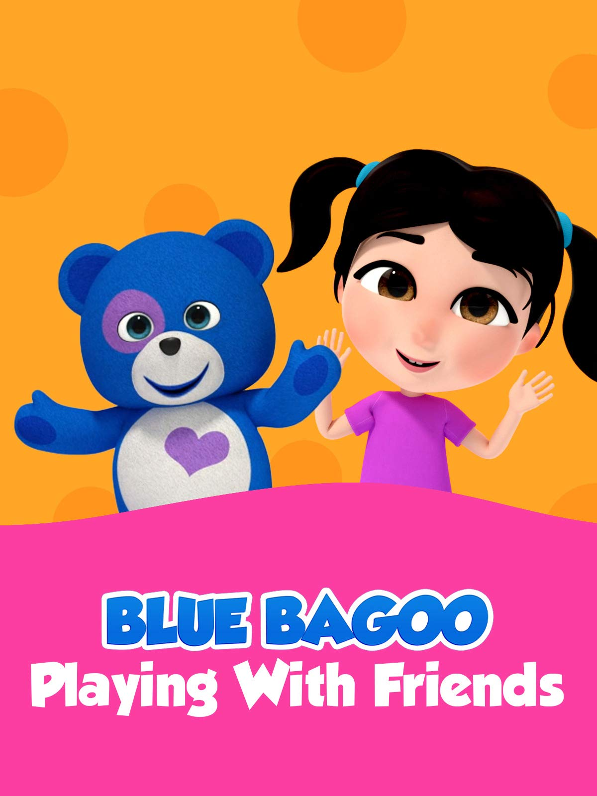 Blue Bagoo Playing with Friends