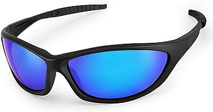 LATEC Polarisierte Sportbrille Sonnenbrille, Sport Sonnenbrille Fahrradbrille Männer Frauen mit UV400 Schutz & unzerbrechlichem Rahmen aus TR90, für