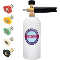 MATCC Foam Cannon I Snow Foam Lance Pressure Washer Jet Wash with 1/4'' Quick Connector Foam Blasters 5 Power Washer…