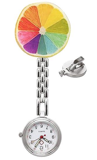 Reloj de Enfermera, Relojes de Cuarzo Impermeable, médico Relojes de Bolsillo para Hombres Mujeres