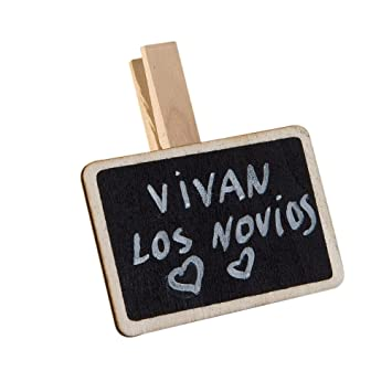 Mopec Pinzas rectangulares de Pizarra, Madera, Negro, 1.5x1 ...