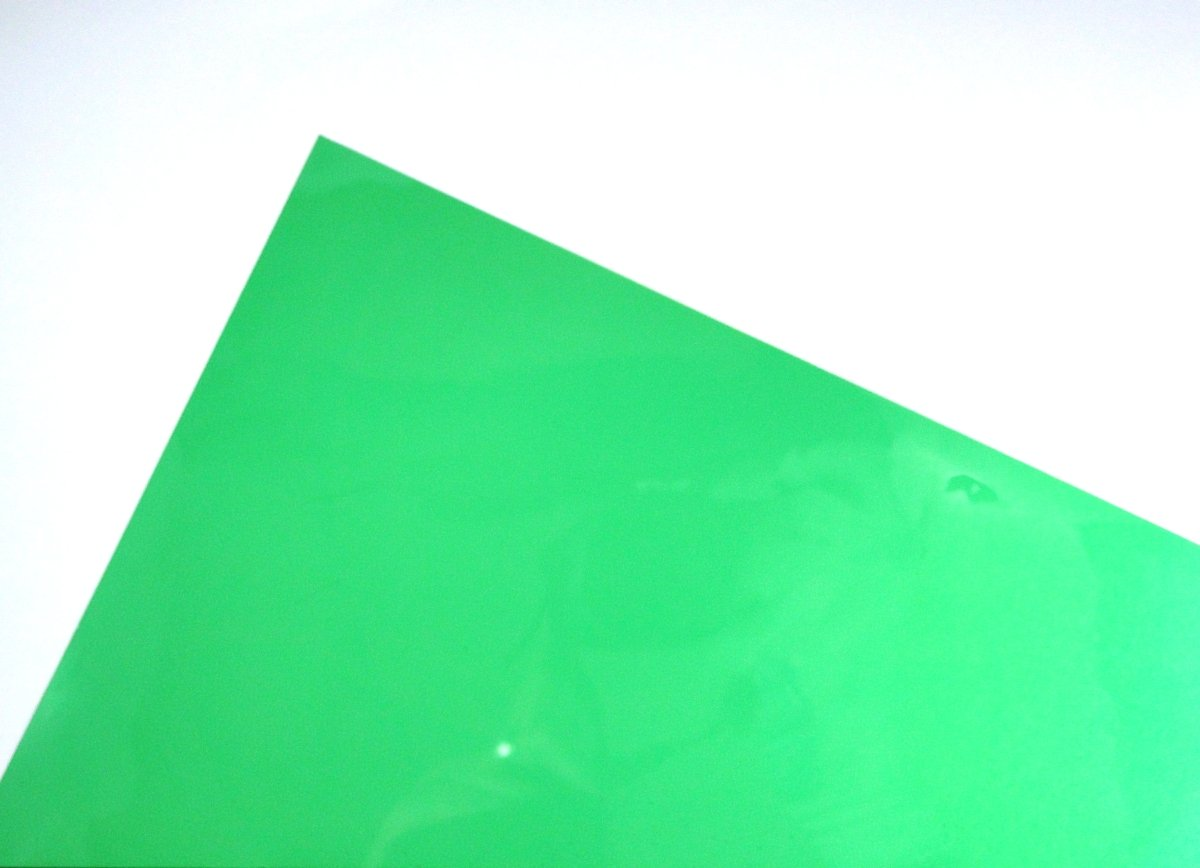 A4 Green Acetate Film Sheets Clear OHP Craft Transparent Plastic (1 Sheet) Habercrafts