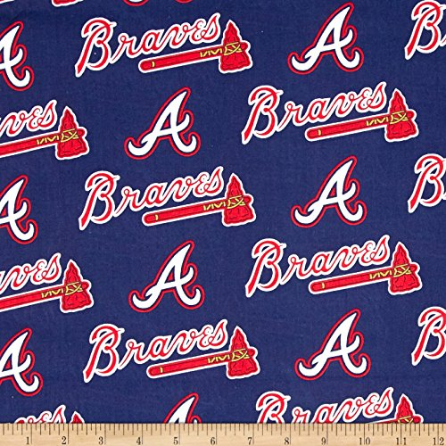 mlb-cotton-broadcloth-atlanta-braves-navy-red-fabric-by-the-yard