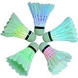 Iluminación LED–Volante de bádminton Birdies Shuttlecock para uso en interiores/al aire libre Actividades Deportivas
