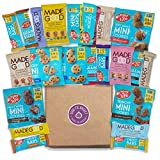 NUT FREE & ALLERGY FRIENDLY Healthy Snacks Variety Pack (22 Ct): School Safe, Gluten Free Snack Mix, Bars, Cookies, Granola, Chocolate, For Kids and Adults, Lunch Box Treats, College Care Package Review