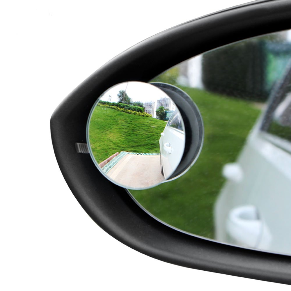 AutoCare Blind Spot Mirror 360/º Rotate 30/º Sway Adjustable Convex Side Rear View Mirror Wide Safety Anti Glare for Car SUV Truck 2PCS