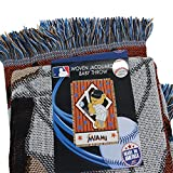 "The Northwest Company MLB Miami Marlins Original Woven Jacquard Baby Throw, 36"" x 46"""