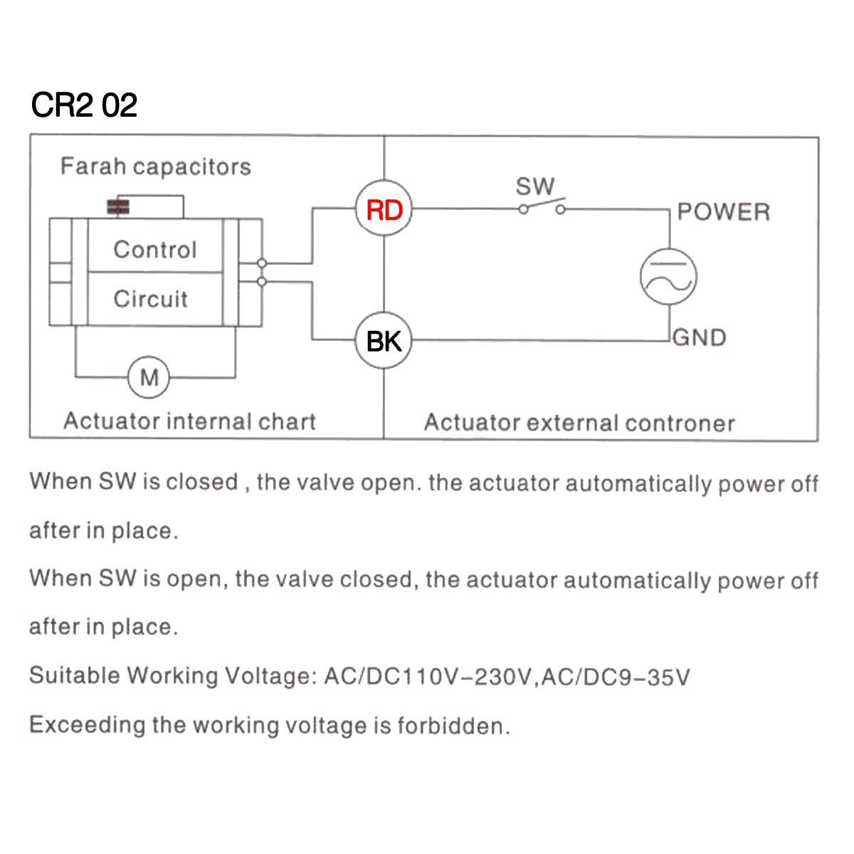 BACOENG AC110/230V 2 Wege Edelstahl 2\