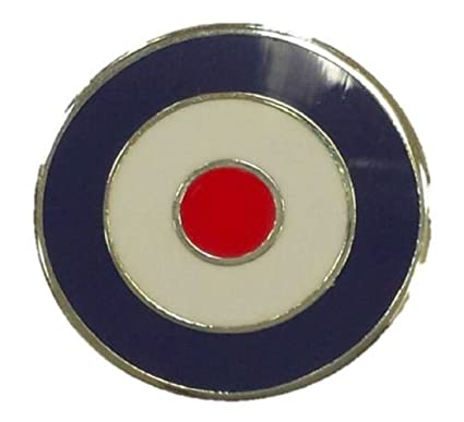 e652989ae4b Plain Mod Target Circle Enamel Pin Badge Red Blue White 2cm x 2cm   Amazon.co.uk  Clothing