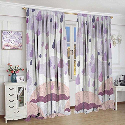 cortina oscurecedora para ventana de otoño, colorida, patrón con hojas de llamada, otoño, temporada, elementos del bosque,...