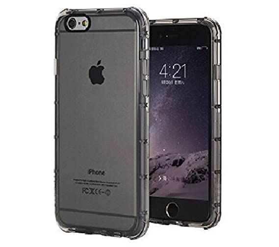 KAPA Fence Shockproof Transparent Back Case Cover for Apple iPhone 6 Plus / 6S Plus  5.5 quot; inch    Grey Cases   Covers