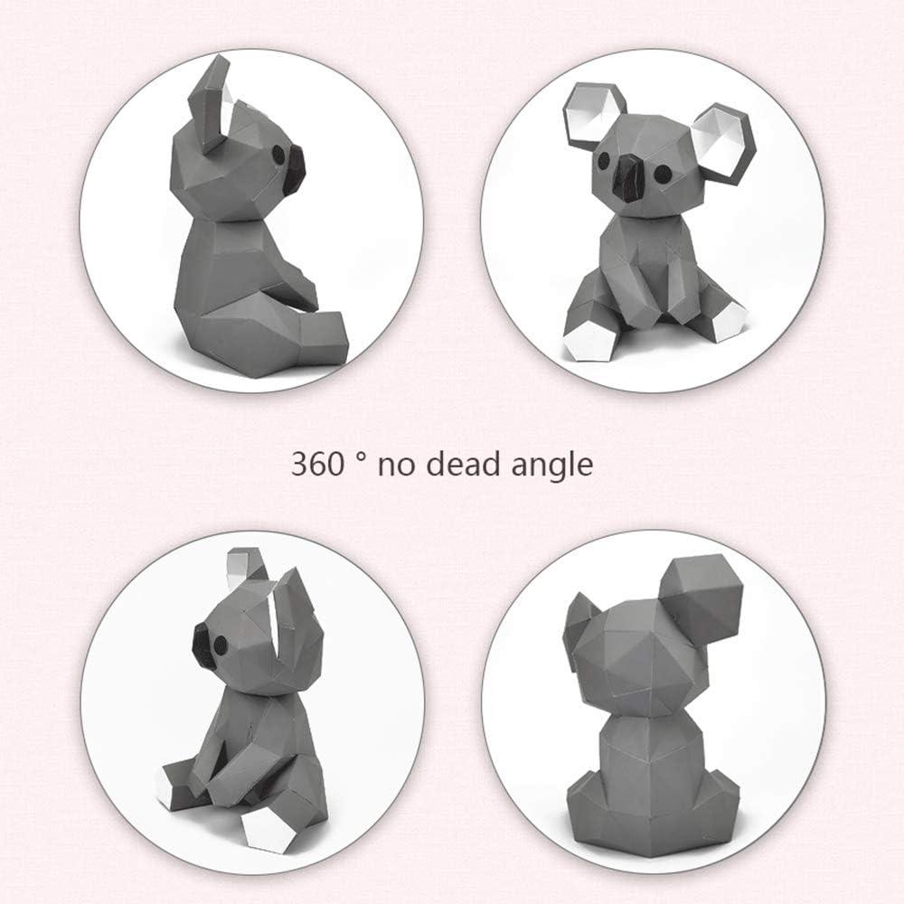 DGFTC-2 DIY Papercraft 3D Paper Model Animal Koala Three-Dimensional Puzzle Art Piece Boy Girl DIY Origami Puzzle Toy Handmade Creative Ornaments Home Decoration