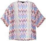 My Michelle Big Girls' Kimono Shrug, Multi, Large