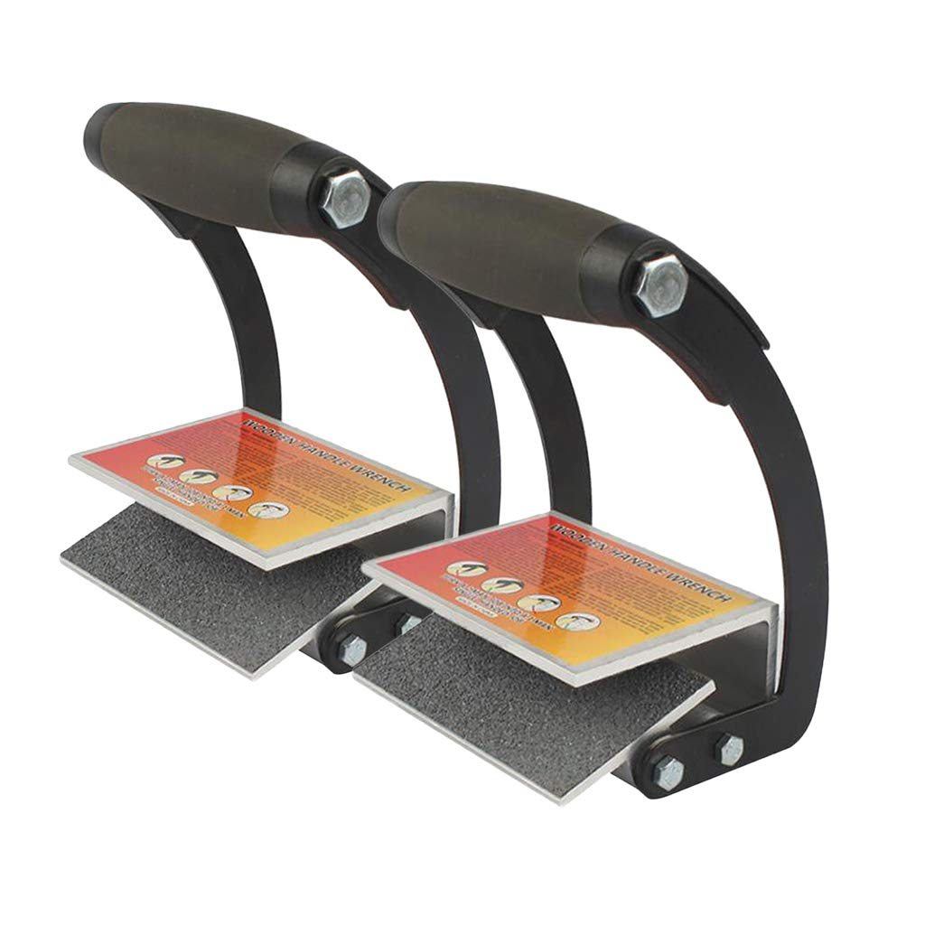 Flameer 2Pcs/Set Plywood and Sheetrock Panel Carriers, Heavy Duty Gripper, Labor-Saving Drywall Hand Clamps Tools