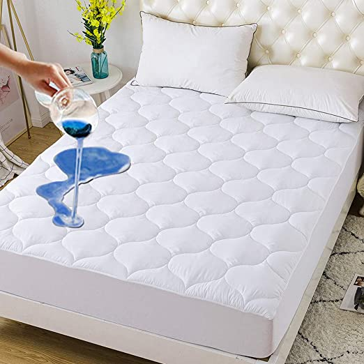 """Twin Size Water Proof Fitted Mattress Cover  39/"""" x 75/"""""""