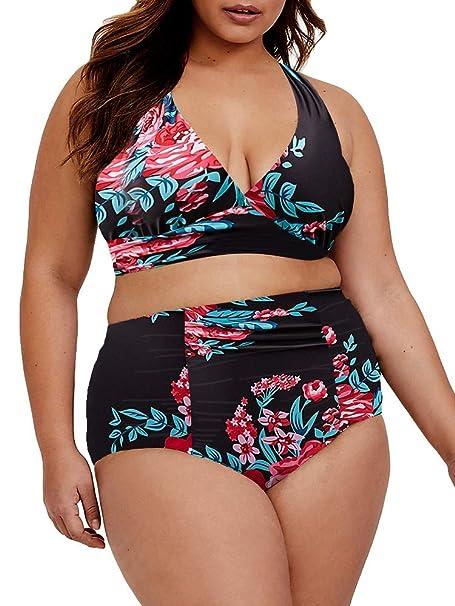Amazon.com: Tutorutor traje de baño para mujer de talla ...
