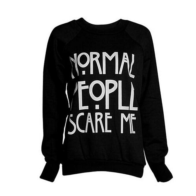 ... KOLY Moda simple algodón camiseta Sudadera con capucha ropa deportiva mujer sudaderas mujer baratas (S, Negro): Amazon.es: Ropa y accesorios