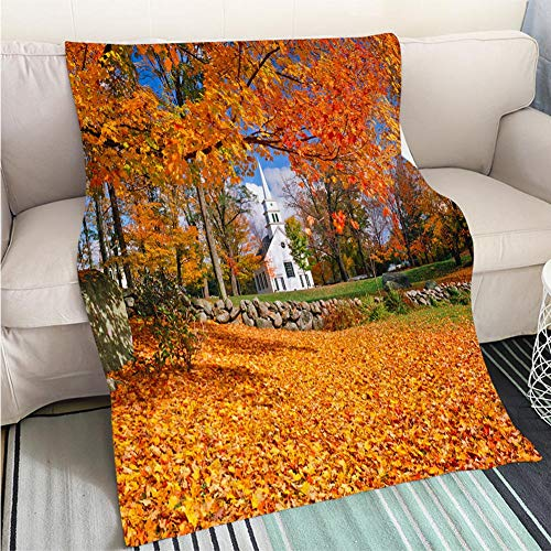 BEICICI Super Soft Flannel Thicken Blanket Autumn in New Hampshire Sofa Bed or Bed 3D Printing Cool Quilt