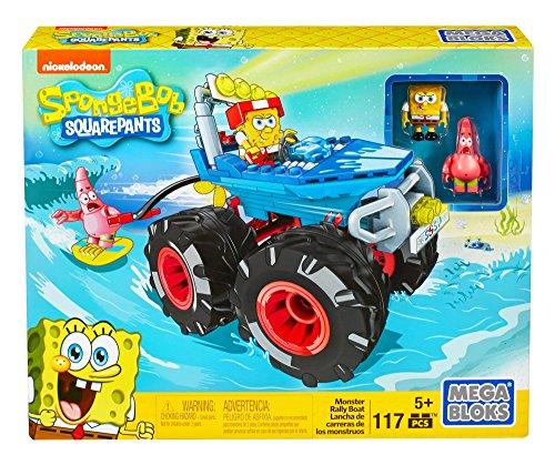 Mega Bloks SpongeBob SquarePants Monster Rally Boat (Spongebob Squarepants Sponge Out Of Water Trailer 2)