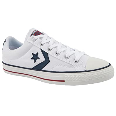 86633d4f1322 Mens Converse Star Player White Canvas Shoes Size 12  Amazon.co.uk ...