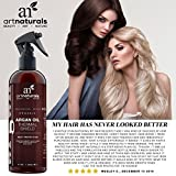 ArtNaturals Thermal Hair Protector Spray 80 Oz Protective Spray Against Flat Iron Heat Contains 100 Organic Argan Oil Preventing Damage Breakage Split Ends Made In The USA Sulfate Free