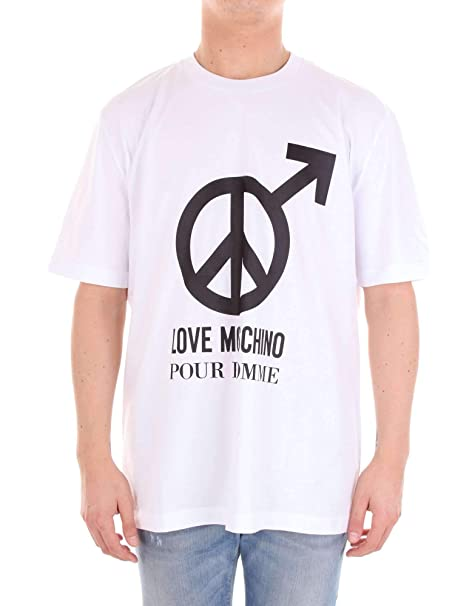 d5daed9dc6fc Moschino Pour Homme T Shirt in White  Amazon.de  Bekleidung
