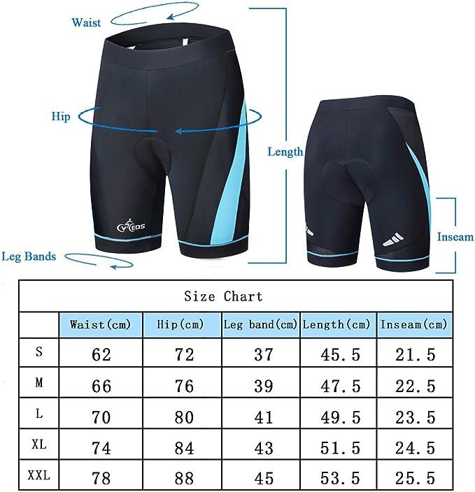 XGC Cuissard de cyclisme pour homme avec rembourrage en gel 4D /élastique respirant et haute densit/é