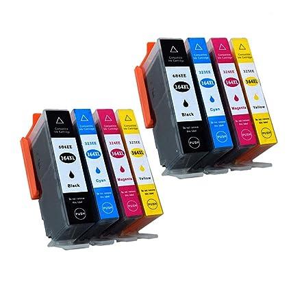Teng® - 8 Cartuchos de Tinta Recargables para HP 364 364XL ...
