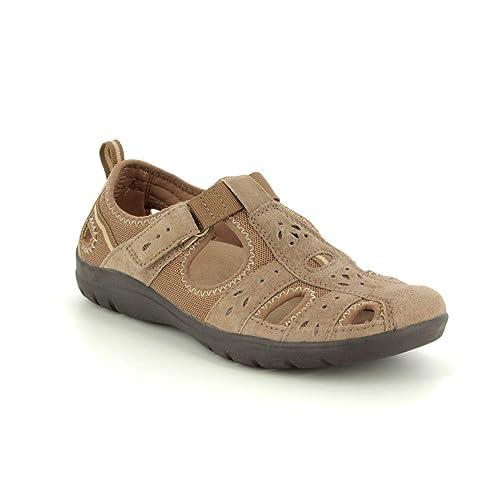 Earth Spirit Cleveland Damen Leder Schuhe Sandalen